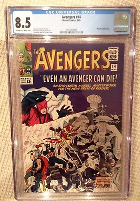 Avengers # 14 cgc 8.5 Stan lee 1st print with appearance of Watcher