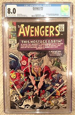 Avengers # 12 cgc 8.0 Stan lee 1st print with george r r martin letter.