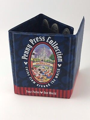 Disney Wold Penny Press Collection Book with Pennies and Quarters 1996,2000
