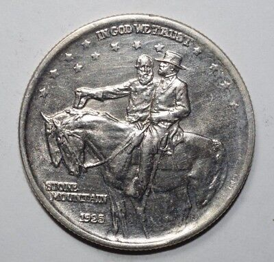 1925  Stone Mountain Commemorative Silver Half Dollar   3S