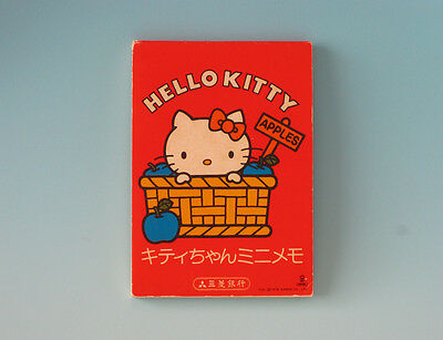 Vintage HELLO KITTY Miniature Memo Pad 1976 SANRIO Japan Gentei Kawaii