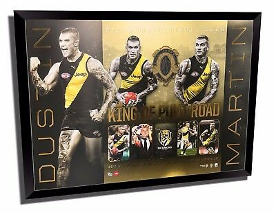 Dustin Martin Richmond 2017 Brownlow Official Afl Print Framed Memorabilia