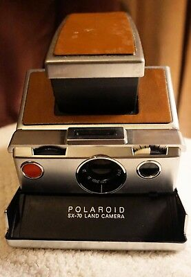 Polaroid Sx-70 Tan Leather Chrome Body Camera - For Repair/parts