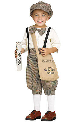 Brand New 1920's Retro Newspaper Boy Toddler Costume