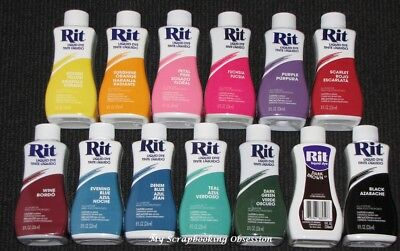 RIT 'LIQUID DYE' Clothes Dye (You Choose Colour) Cotton/Wool 236ml Clothing