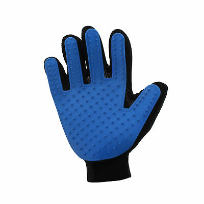 Dog Cat Pet Grooming Glove Blue True Touch Cleaning Natural De Shedding Pet Hair
