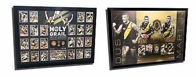 Richmond Afl Premiers Holy Grail & Dustin Martin Brownlow Framed Memorabilia