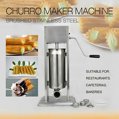 Edelstahl 10L Churros Maschine Spanish Donuts Churrera Churro Maker