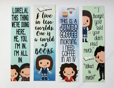 Set of 4 Gilmore Girls Quote Bookmarks
