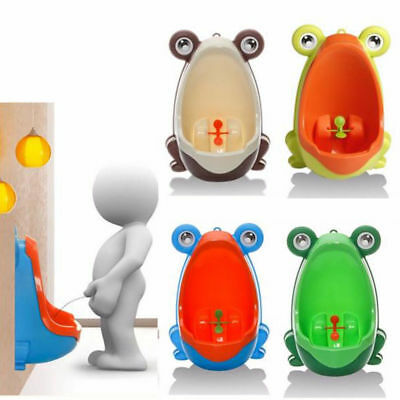Boy Frog Kids Potty Toilet Training Children Urinal Pee Trainer Bathroom 4 Color