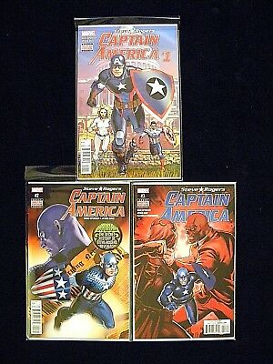 Steve Rogers CAPTAIN AMERICA #s 1 2 and 3 Free S&H 1st Print Nick Spencer