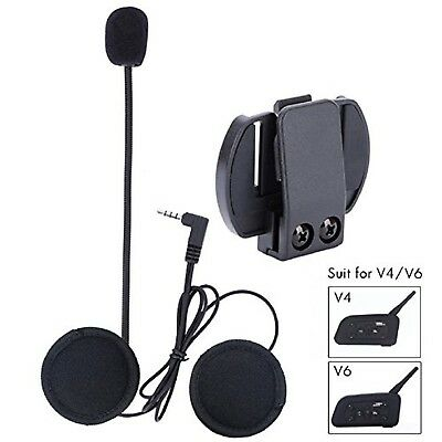 Fodsports Microphone Headphone Hard Cable Headset & Clip Accessory for New V6...