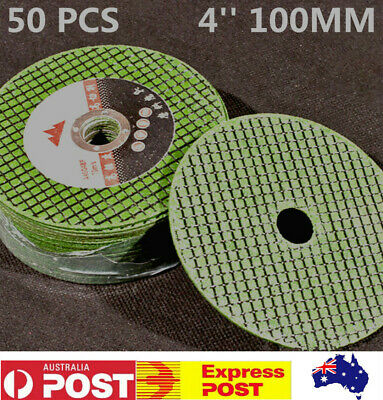 "50pcs 4"" 100mm Cutting Discs Wheel Thin Angle Grinder Cut Off Steel Metal Flaps"