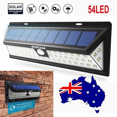 AU MPOW 54 LED Solar Power Light Motion Sensor Outdoor Security Lamp Waterproof