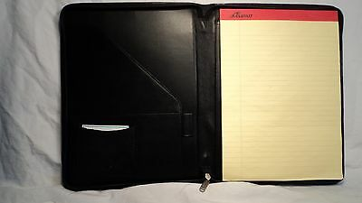 Passage 2 3185 Black Leather Zippered Letter Sized Writing Pad