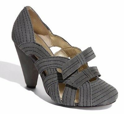 Anthropologie Sweeping Stitch Heels Seychelles Shoes Gray