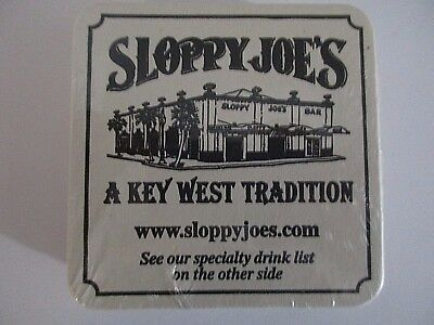 Sloppy Joes Bar Drink Coasters 20 Cardboard Key West Florida Beer Souvenir NIP