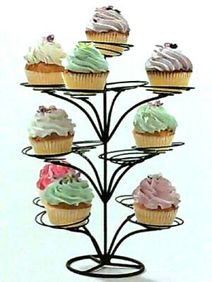 Studio Home Large Tier Cupcake Tree  Holds 13 Cupcakes  Black