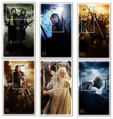 NEW ZEALAND • 2003 • Lord of the Rings: Return of the King • Set of 6 Minisheets