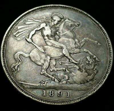 1891 Great Britain Silver Crown