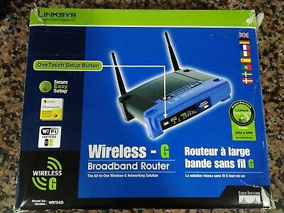 Linksys WRT54G Router Wireless Neutro 54 Mbps + 4 Eth