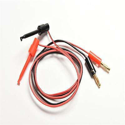 Banana Plug To Test Hook Clip Probe Lead Cable For Multimeter 2pcs PB