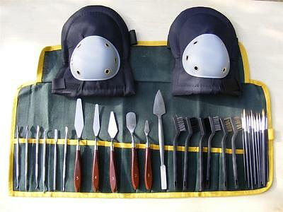 Archaeologist Archaeology Excavation Dig Tool Set Kit Set Canvas Case Knee Pads