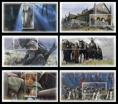 NEW ZEALAND • 2002 • Lord of the Rings: The Two Towers • Set of 6 Minisheets