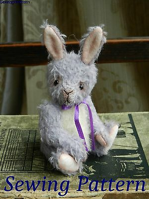 """Sewing pattern and instructions to make 'Cicily' - 5.25"""" bunny - Butterfly Bears"""