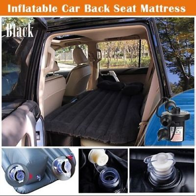 Car Inflatable Air bed Mattress Rear Seat Extended Sleep Bed For Travel Black