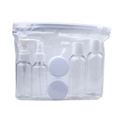Portable Transparent Travel Cosmetic Bottle Points Bottling Six Sets Press Type