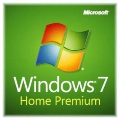 Microsoft Windows 7 Home Premium 32/64bit Genuine License Key Product Code