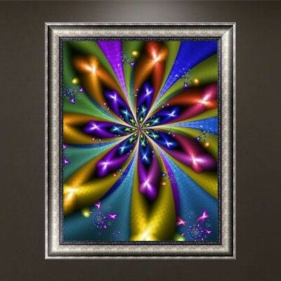 Abstract Flower DIY 5D Diamond Embroidery Painting Cross Stitch Craft Home Decor