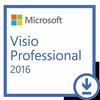 Microsoft Visio Professional 2016 1 User Digital Key & Download Link
