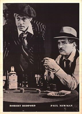 "VINTAGE POSTER~The Sting 1973 15x22"" Paul Newman/Robert Redford Classic B/W Shot"