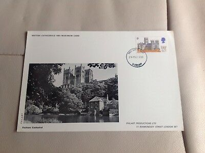 Philart British Cathedrals 1969 Maximum Card First Day Issue Durham Cathedral