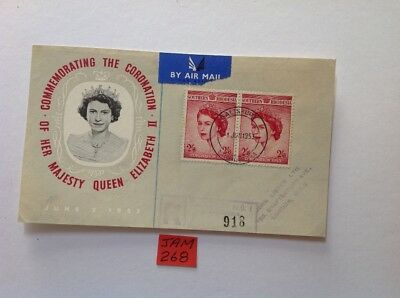 southern rhodesia 1953 2 x2/6d on piece