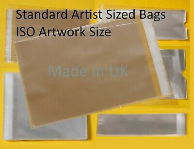 Clear Cello Standard Artist Size Bags - Cellophane Display Prints ISO Artwork