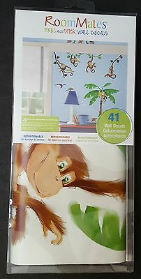 RoomMates Peel and Stick Wall Decals  Morrow Jungle Monkey RMK1676SCS York NIP