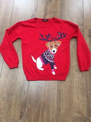 Girls Red Christmas Jumper, Age 7-8