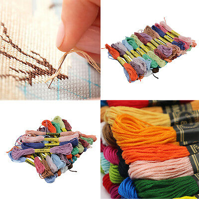 25 X Cross Stitch Cotton Sewing Skeins Embroidery Thread Floss Mix Colors Kit