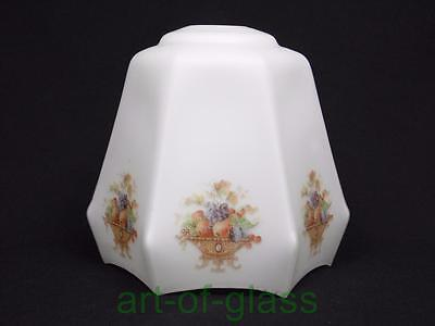 Vintage opaque white glass light shade