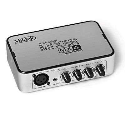 Miktek MX4 Four Channel Mixer (B-Stock)