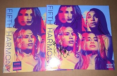 Fifth Harmony 5H Self Titled Hand Signed Vinyl Album Autograph Sold Out Rare Cd