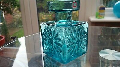 Dartington Frank Thrower FT60 Kingfisher Blue Candle Holder.  Vintage