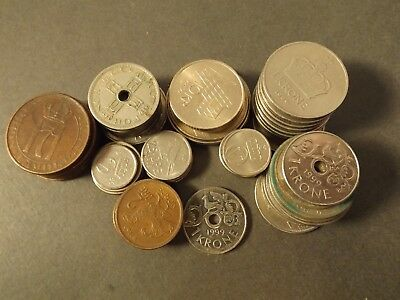 Norway Over 93 Krone In Coins Free Post