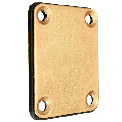 H1 Gold Neck Plate with 4 Screws Replacement Part for Fender Strat Electric Guit