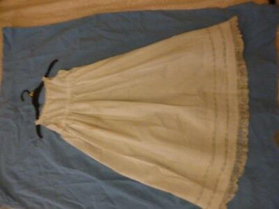 Victorian girls babies slip underdress petticoat trimmed with lace
