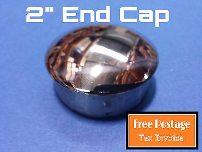 """END CAP 316 STAINLESS STEEL TUBE CONNECTOR 50.8mm FITTING 2"""" TUBING HANDRAIL"""