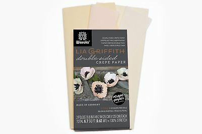 Lia Griffith Extra Fine Crepe Double Sided Paper - 4 colours per pack (Blush ...